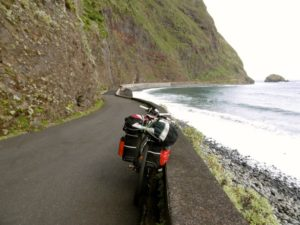 Cycling around Madeira.
