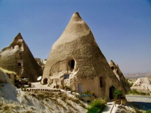 This is how a hotel can look in Cappadocia.