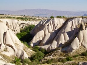 Rock formations in central Anatolia.