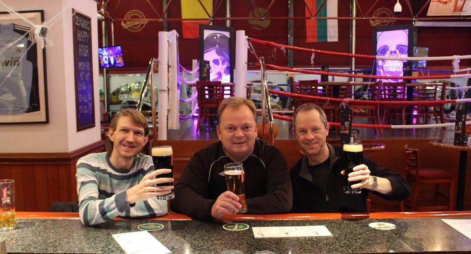 Stopover in a pub in Warsaw.
