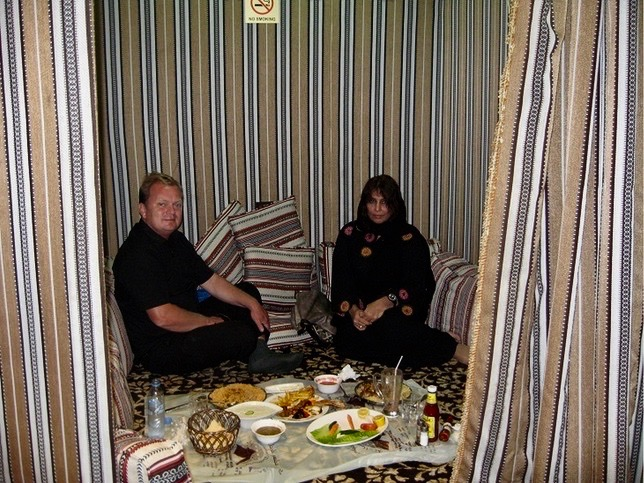 Dinner in Dubai with a local friend.