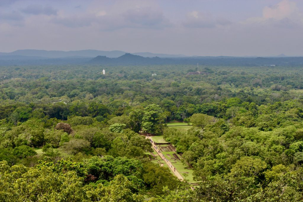 You have a fantastic view from the top of Sigiriya rock.