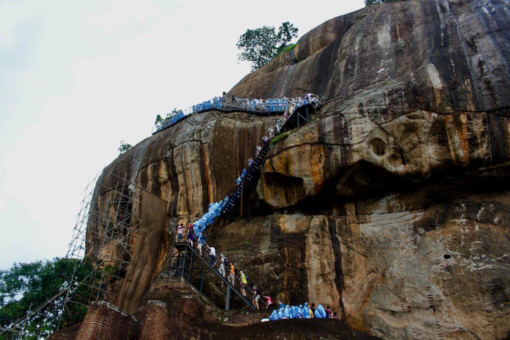 It's a popular rock to climb.