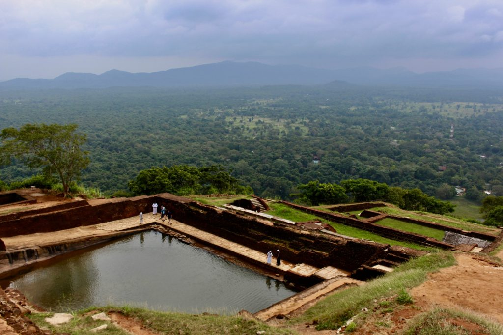 Ancient bathing pool at Sigiriya.