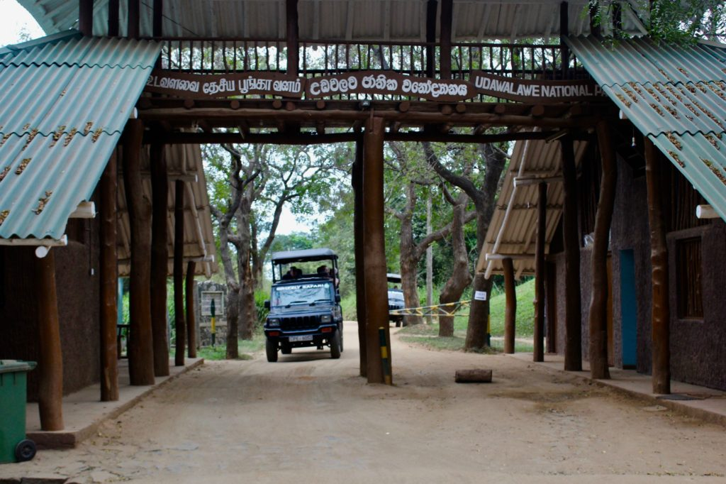 Entering Udawalawe national park.