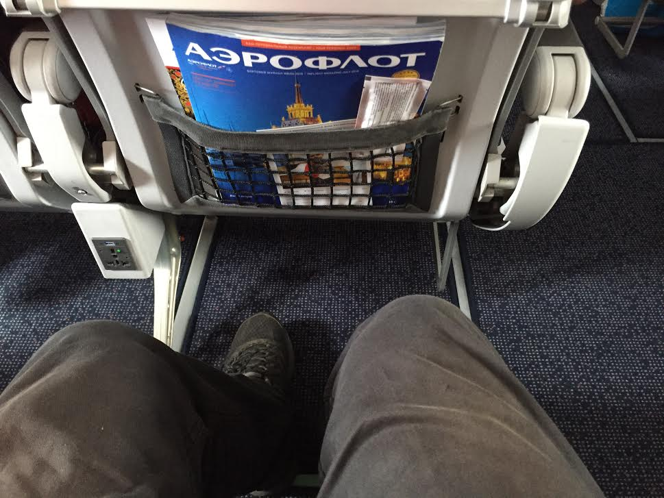 Happy with the leg space onboard Aeroflot.