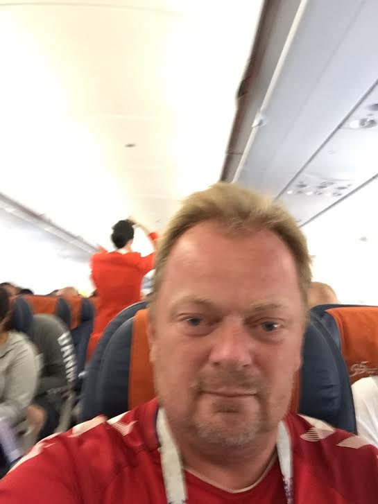 Flying from Moscow to Copenhagen.