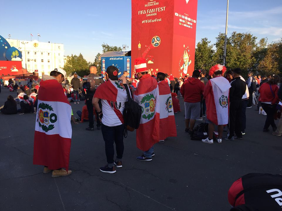 There were Peruvians everywhere during the World Cup.