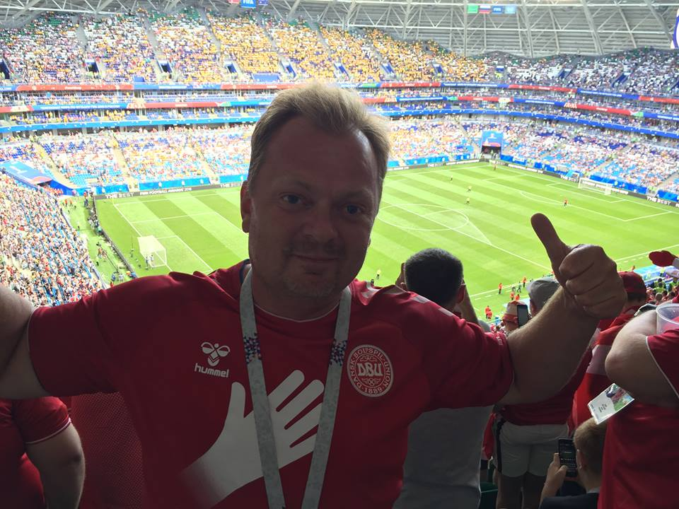 At the stadium in Samara.