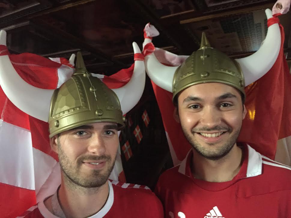 Danish football fans.