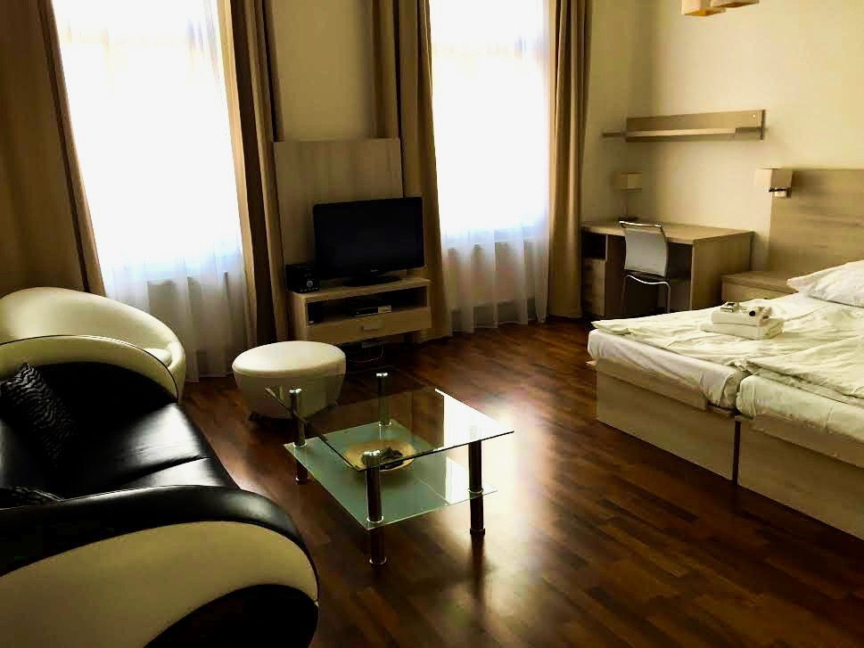 U Cerne Veze has very nice apartments in the center of Ceske Budejovice.