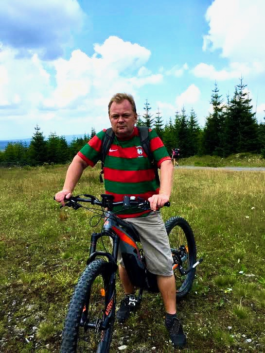 Exploring Sumava by e-bike.