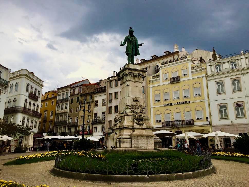 The statue of Joaquim Antonia de Aguiar.