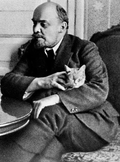 Lenin and his cat.