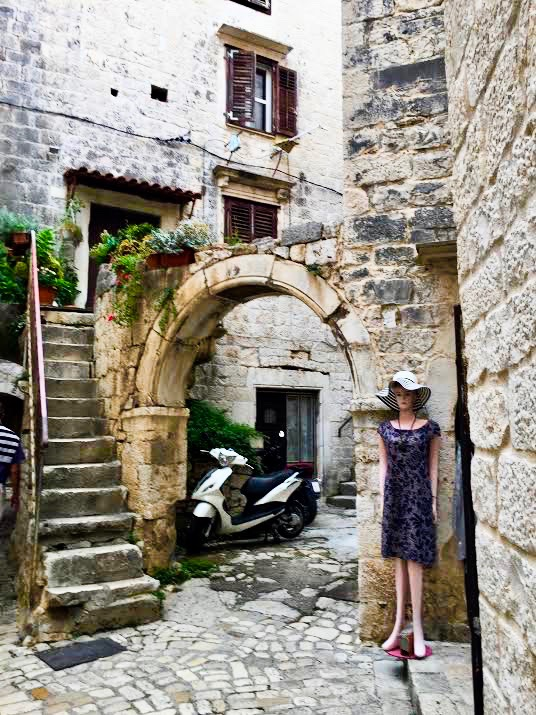 Trogir is an old Venetian town.