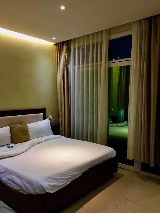 I liked my room at Demba Ba's hotel.