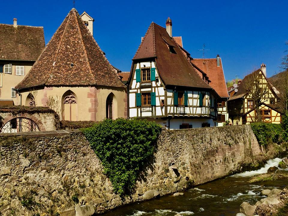 Fairytale houses in Alsace.
