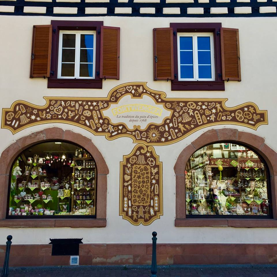 Beautiful house facade in Kaysersberg.
