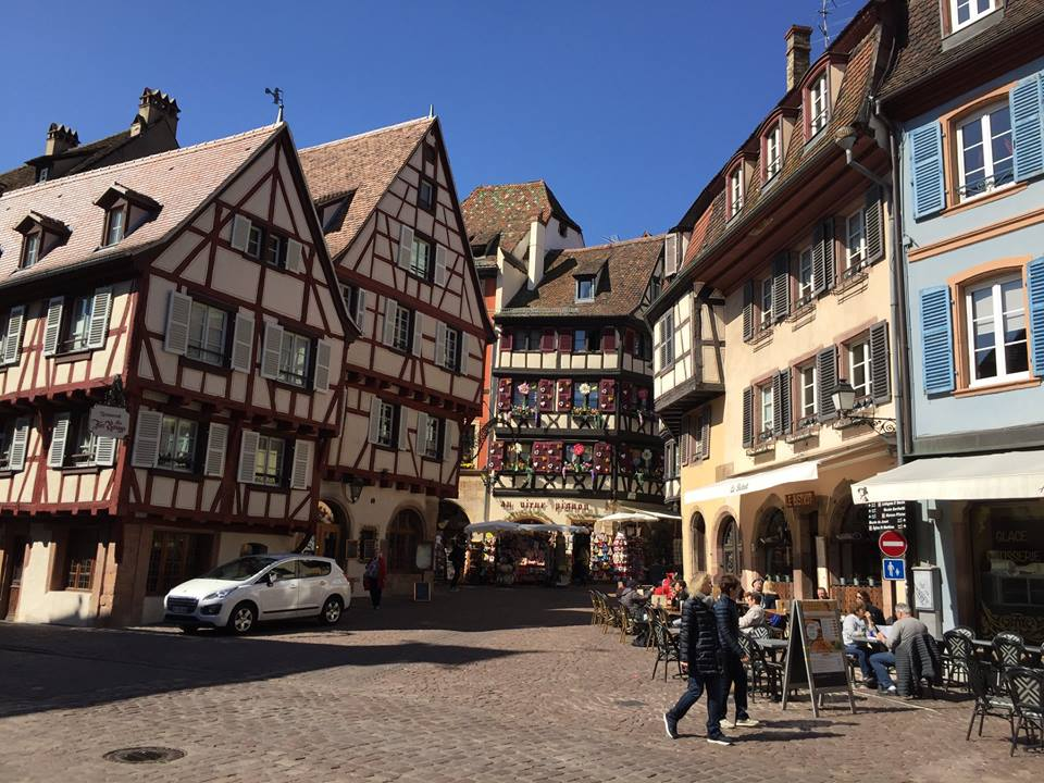 The old town center of Colmar.