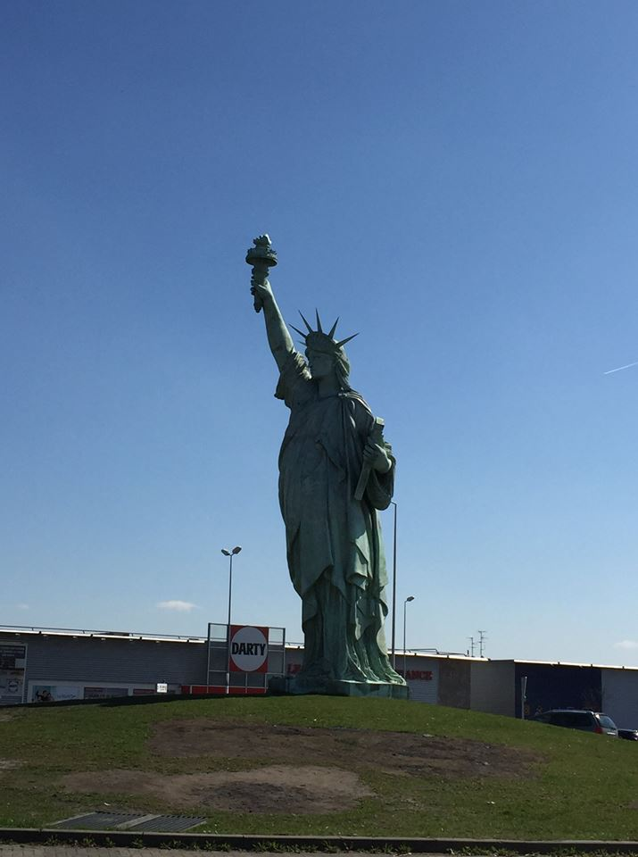 The statue of Liberty in Colmar.