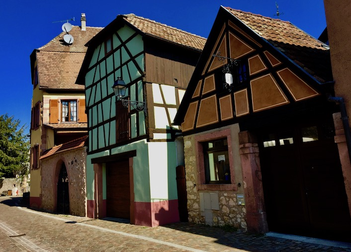 Village houses in Kientzheim, Alsace.