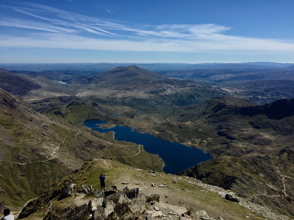 The view from Mount Snowden.