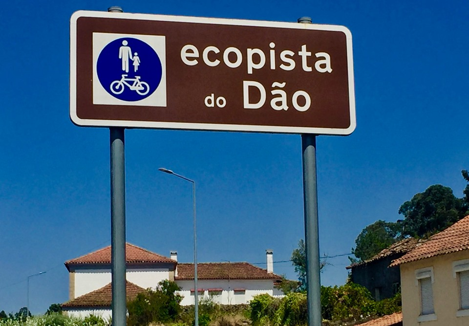 Ecopista do Dao sign.
