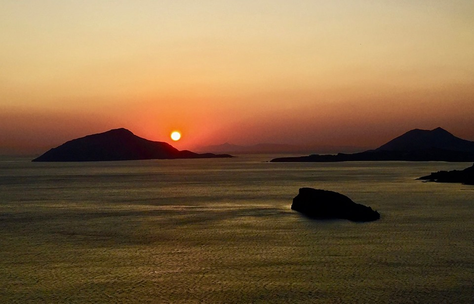 Sunset Cape Sounion.A spectacular sight.