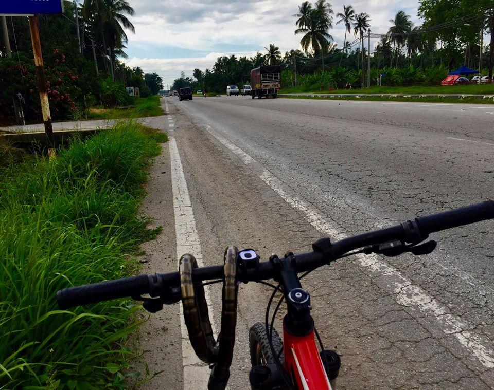 cycling Malaysian peninsula from Kuala Lumpur to Penang.