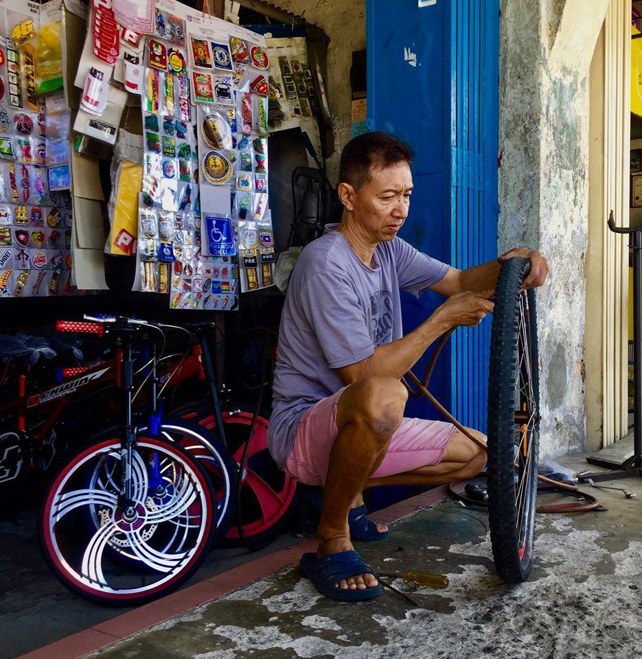 Bicycle mechanic Kuala Lumpur to Penang.
