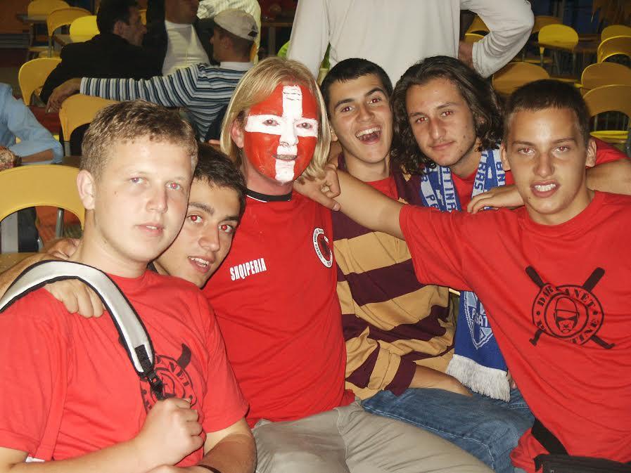 Albanian fans.