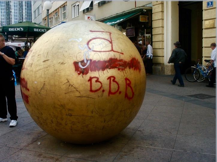 Football graffiti.