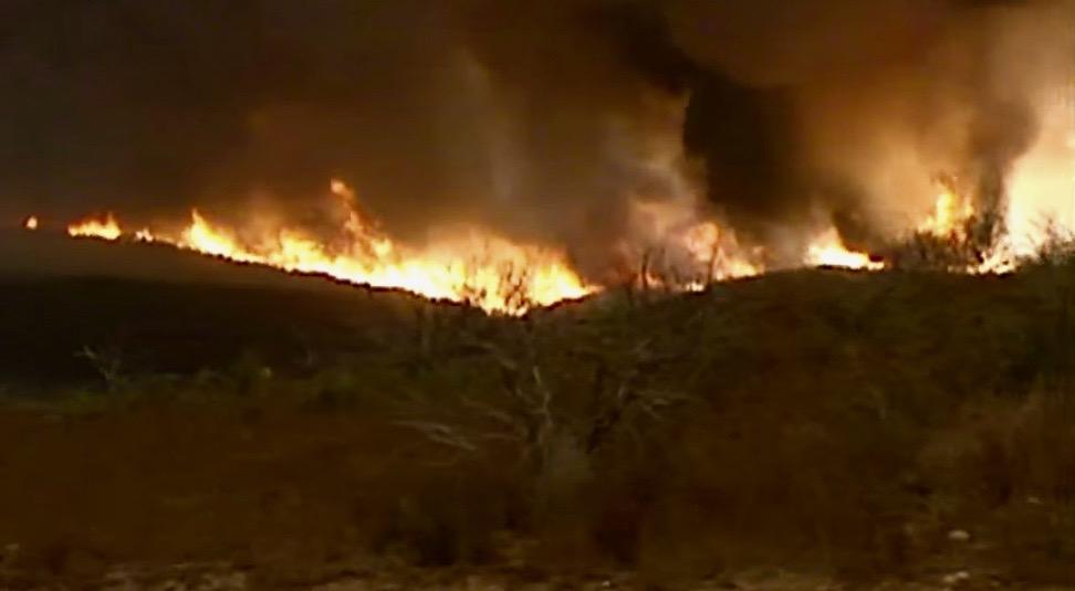 San Diego wildfires.