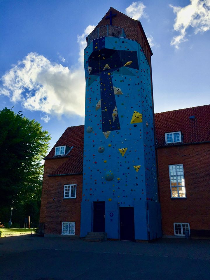 Climbing wall church