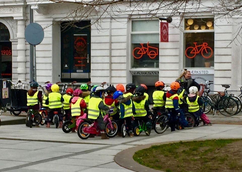 Cycling kindergarten Copenhagen